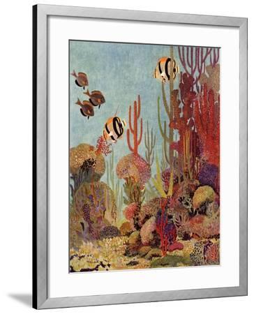 Coral and Fish, 1933--Framed Giclee Print