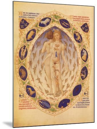 Zodiac Man and Signs, 1416--Mounted Giclee Print