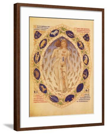 Zodiac Man and Signs, 1416--Framed Giclee Print