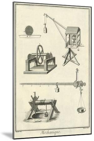 Mechanical Elements, 1777--Mounted Giclee Print