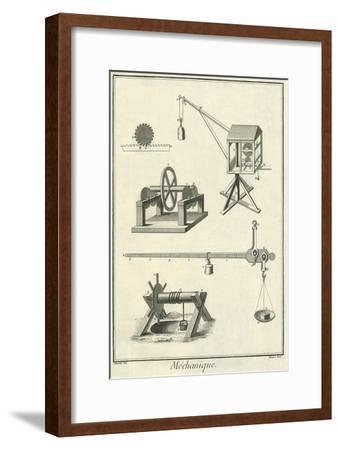 Mechanical Elements, 1777--Framed Giclee Print