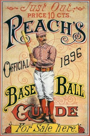 Reach's Official Baseball Guide, 1896--Stretched Canvas Print