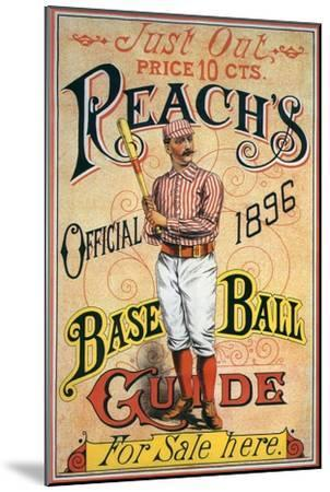 Reach's Official Baseball Guide, 1896--Mounted Giclee Print