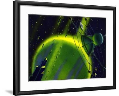 Sci Fi - Satellite in Space, 1950--Framed Giclee Print