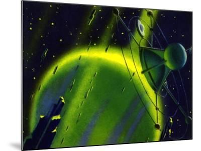 Sci Fi - Satellite in Space, 1950--Mounted Giclee Print