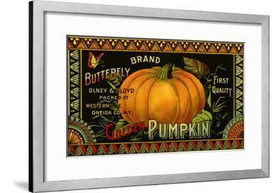 Pumpkin Label--Framed Giclee Print