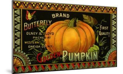 Pumpkin Label--Mounted Giclee Print