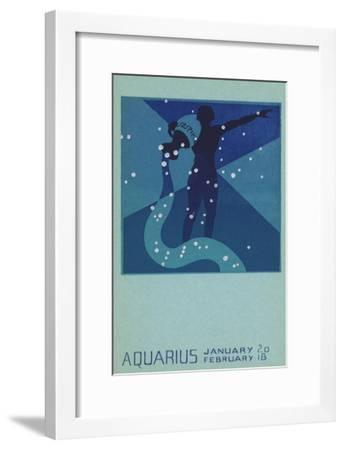Aquarius, Water Bearer--Framed Giclee Print