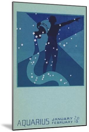 Aquarius, Water Bearer--Mounted Giclee Print