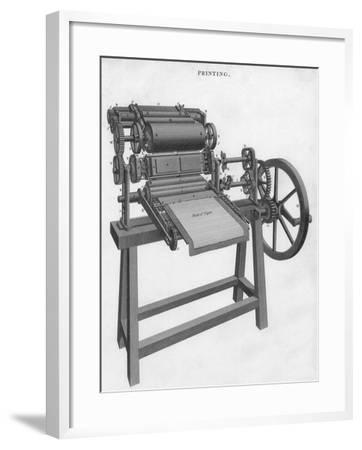 Printing Press--Framed Giclee Print