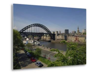Tyne Bridge and Newcastle Skyline from Gateshead, Tyne and Wear, England, United Kingdom-Charles Bowman-Metal Print
