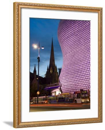 Selfridges and St. Martins Church at Dusk, Birmingham, England, United Kingdom, Europe-Charles Bowman-Framed Photographic Print