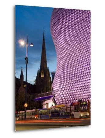 Selfridges and St. Martins Church at Dusk, Birmingham, England, United Kingdom, Europe-Charles Bowman-Metal Print