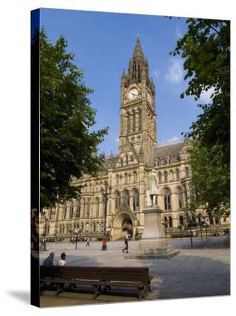 Town Hall, Manchester, England, United Kingdom, Europe-Charles Bowman-Stretched Canvas Print