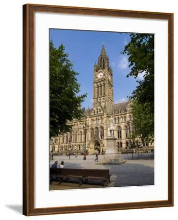 Town Hall, Manchester, England, United Kingdom, Europe-Charles Bowman-Framed Photographic Print