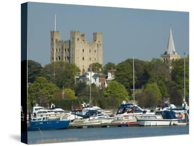 Rochester Castle and Cathedral, Rochester, Kent, England, United Kingdom, Europe-Charles Bowman-Stretched Canvas Print