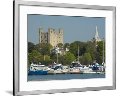 Rochester Castle and Cathedral, Rochester, Kent, England, United Kingdom, Europe-Charles Bowman-Framed Photographic Print