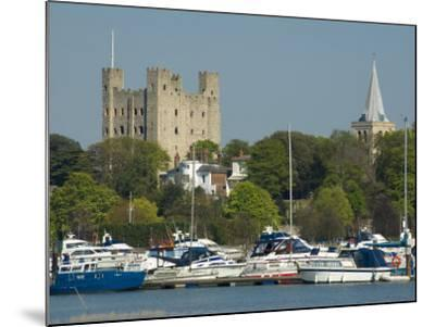 Rochester Castle and Cathedral, Rochester, Kent, England, United Kingdom, Europe-Charles Bowman-Mounted Photographic Print