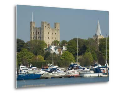 Rochester Castle and Cathedral, Rochester, Kent, England, United Kingdom, Europe-Charles Bowman-Metal Print