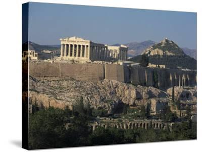 Acropolis, UNESCO World Heritage Site, from Opposite Hillside, Athens, Greece, Europe-Charles Bowman-Stretched Canvas Print