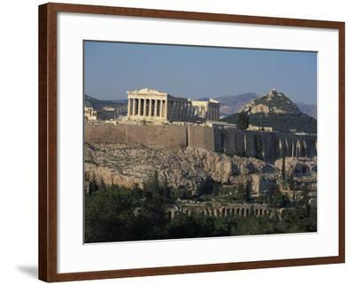 Acropolis, UNESCO World Heritage Site, from Opposite Hillside, Athens, Greece, Europe-Charles Bowman-Framed Photographic Print
