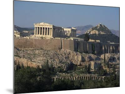 Acropolis, UNESCO World Heritage Site, from Opposite Hillside, Athens, Greece, Europe-Charles Bowman-Mounted Photographic Print