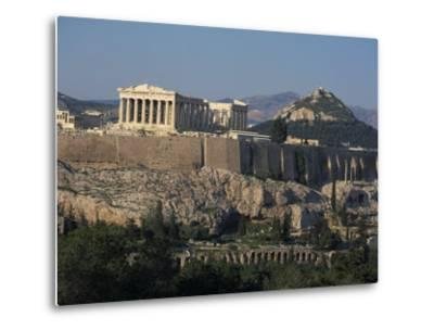 Acropolis, UNESCO World Heritage Site, from Opposite Hillside, Athens, Greece, Europe-Charles Bowman-Metal Print