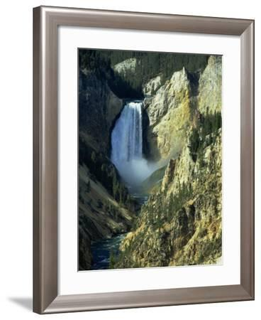 Waterfall, Grand Canyon of the Yellowstone, Yellowstone National Park, Wyoming, USA-Jean Brooks-Framed Photographic Print