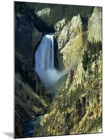 Waterfall, Grand Canyon of the Yellowstone, Yellowstone National Park, Wyoming, USA-Jean Brooks-Mounted Photographic Print