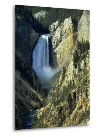 Waterfall, Grand Canyon of the Yellowstone, Yellowstone National Park, Wyoming, USA-Jean Brooks-Metal Print