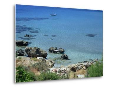 Rocks and Sea, Frangokastello, Crete, Greek Islands, Greece, Europe-Jean Brooks-Metal Print