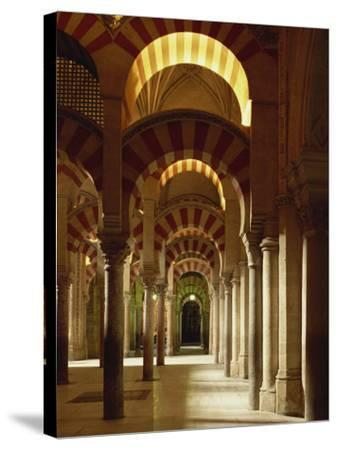 Interior of the Mezquita or Mosque at Cordoba, Cordoba, Andalucia), Spain-Michael Busselle-Stretched Canvas Print