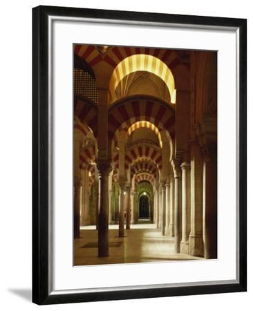 Interior of the Mezquita or Mosque at Cordoba, Cordoba, Andalucia), Spain-Michael Busselle-Framed Photographic Print