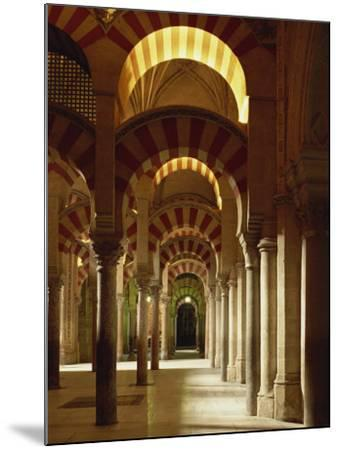 Interior of the Mezquita or Mosque at Cordoba, Cordoba, Andalucia), Spain-Michael Busselle-Mounted Photographic Print