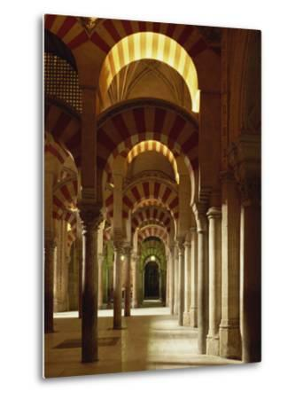Interior of the Mezquita or Mosque at Cordoba, Cordoba, Andalucia), Spain-Michael Busselle-Metal Print