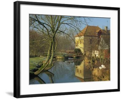 Watermill Reflected in Still Water, Near Montreuil, Crequois Valley, Nord Pas De Calais, France-Michael Busselle-Framed Photographic Print