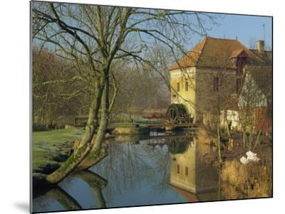 Watermill Reflected in Still Water, Near Montreuil, Crequois Valley, Nord Pas De Calais, France-Michael Busselle-Mounted Photographic Print