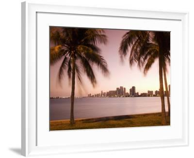 Downtown Miami Skyline at Dusk Miami, Florida, United States of America, North America-Angelo Cavalli-Framed Photographic Print