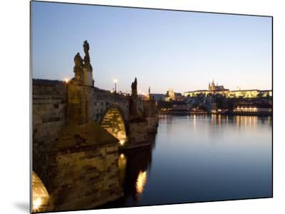 Charles Bridge, St. Vitus's Cathedral in the Distance, Prague, Czech Republic-Martin Child-Mounted Photographic Print