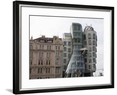 Dancing House, Prague, Czech Republic, Europe-Martin Child-Framed Photographic Print