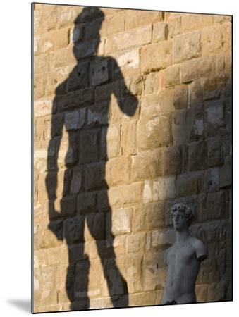 Shadow of Statue of David, Piazza Della Signoria, Florence, Tuscany, Italy, Europe-Martin Child-Mounted Photographic Print