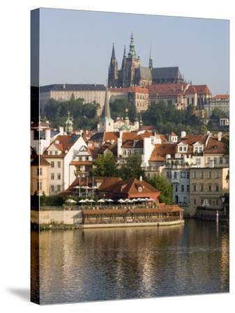 St. Vitus's Cathedral and Royal Palace on Skyline, Old Town, Prague, Czech Republic-Martin Child-Stretched Canvas Print