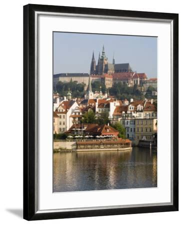 St. Vitus's Cathedral and Royal Palace on Skyline, Old Town, Prague, Czech Republic-Martin Child-Framed Photographic Print