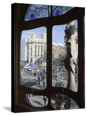 Window, Casa Batlo, Barcelona, Catalonia, Spain, Europe-Martin Child-Stretched Canvas Print