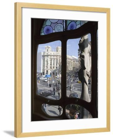 Window, Casa Batlo, Barcelona, Catalonia, Spain, Europe-Martin Child-Framed Photographic Print