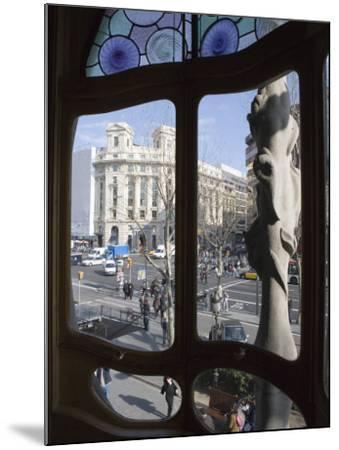 Window, Casa Batlo, Barcelona, Catalonia, Spain, Europe-Martin Child-Mounted Photographic Print