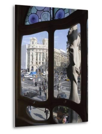Window, Casa Batlo, Barcelona, Catalonia, Spain, Europe-Martin Child-Metal Print