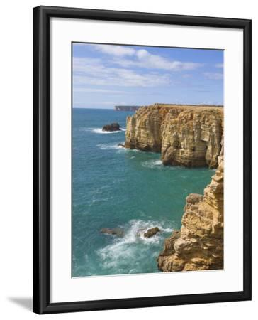 Atlantic Ocean and Cliffs on the Cape St. Vincent Peninsula, Sagres, Algarve, Portugal, Europe-Neale Clarke-Framed Photographic Print