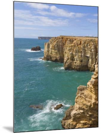 Atlantic Ocean and Cliffs on the Cape St. Vincent Peninsula, Sagres, Algarve, Portugal, Europe-Neale Clarke-Mounted Photographic Print