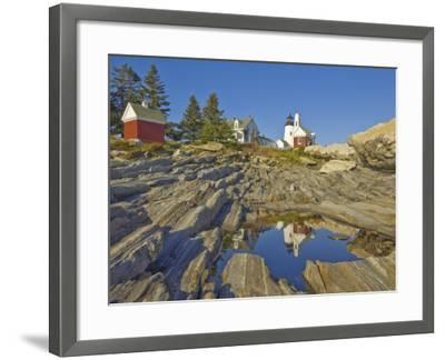 Pemaquid Lightouse and Fishermans Museum, Pemaquid Point, Maine, USA-Neale Clarke-Framed Photographic Print